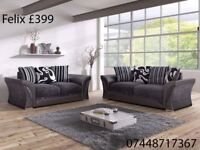 SPRING SALE NOW ON .. FABRIC SOFAS, DINO AND FELIX, 3+2 OR CORNER AVAILABLE!