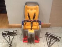 TOPEAK Childs bike passenger seat with 2 mounting racks-excellent condition