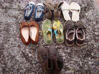 7 pairs of shoes. size 5-6. £5.00 Torquay