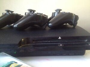 PS3 with 3 controllers and games Maddington Gosnells Area Preview
