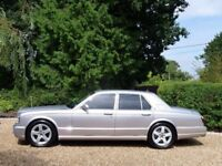 BENTLEY ARNAGE T, 2002, 6.8LTR,CREAM LEATHER,CHROME INLAYS,SILVER,ONLY BEEN USED AS A WEDDING CAR