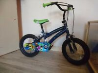 boys bike 14 inch suit age 4-6 yrs approx