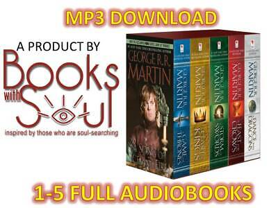 A GAME OF THRONES: A Song of Ice and Fire Audiobook SET 1-5 Fast Shipping MP3