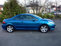 Peugeuot 307 CC - Convertible Car Blue £2,200 ONO