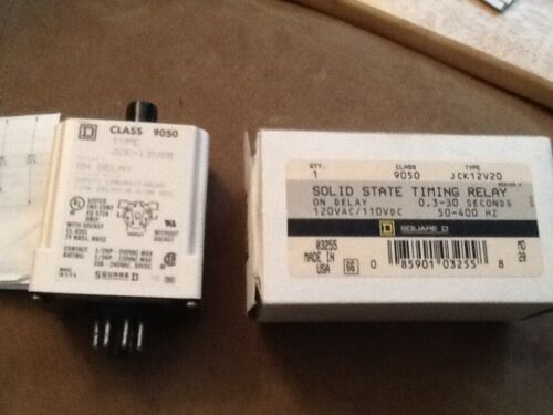 Square D  solid state Timing Relay (JCK12V20)