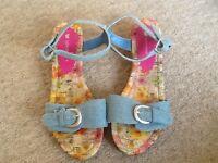 John Lewis size 4 girls sandals