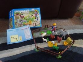 Playmobil Boxed As New Complete with Instructions Country Farm Animal Pen Set 6133 Only £10