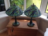Tiffany lamps.