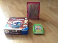 Pink coloured pin art.junior puzzleball high school musical.top trumps mosh I monsters