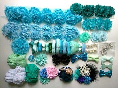 Headband making supplies, baby shower station, deluxe diy kits, headband station