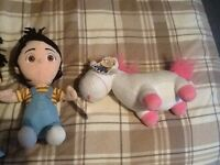 DISPICAL ME TALKING AGNES DOLL..AND AGNES SOFT DOLL WITH UNICORN.