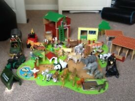 Early Learning Centre wooden farm and accessories