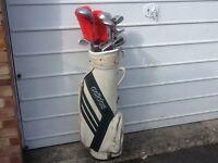Golf clubs With Adidas Carry Bag