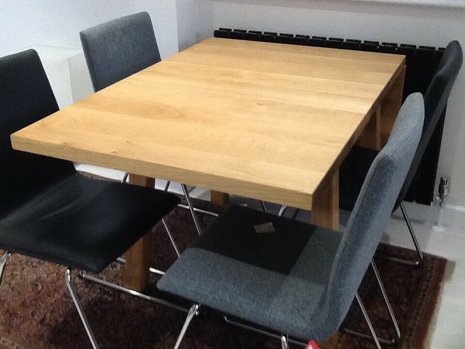 Extendable Dining Table Ikea Mockelby Solid Wood Perfect Condition 80cm Wide X 70 115 145cm