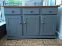 Hand painted shabby chic sideboard