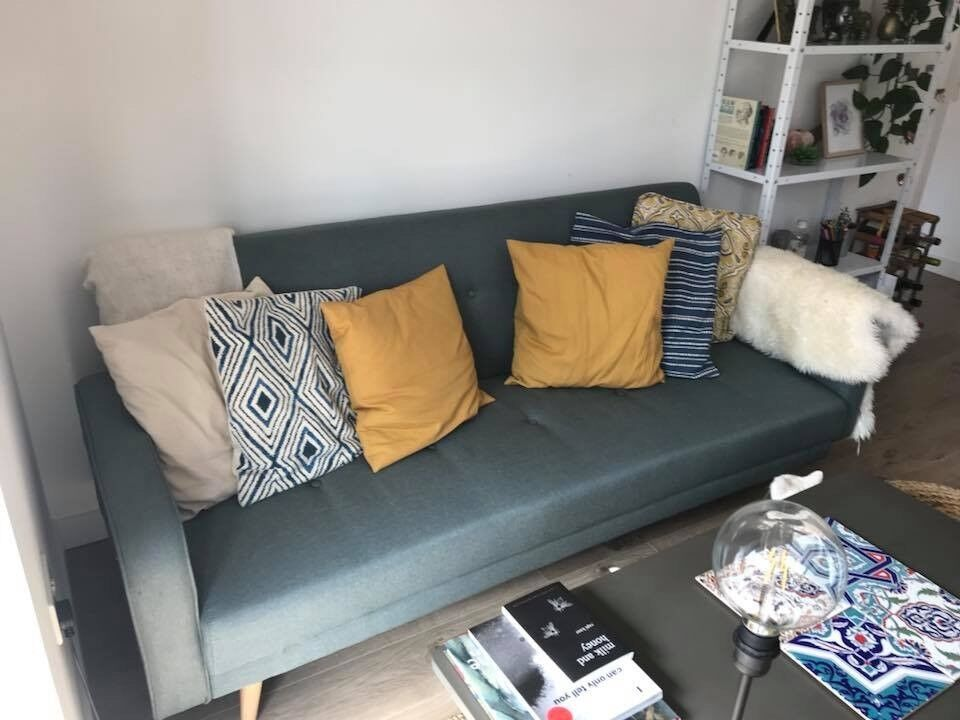Sofa Bed Aqua 3 Seater Clic Clac Broadway 2 Months Old