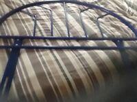Royal Blue Metal Headboard