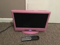 Pink tv DVD player