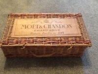 Vintage French Moët & Chandon basket