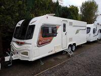 Bailey Unicorn Cartagena 4 berth caravan 2014 FIXED ISLAND BED, MOTOR MOVER, VGC