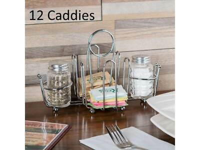(12-Pack) Silver Metal Wire Salt and Pepper Sugar Packet Holders Caddies Racks Sugar Packet Rack