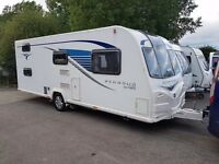 2014 Bailey Pegasus GT65 Ancona 6 Berth caravan FIXED BUNK BEDS, MOTOR MOVER VGC