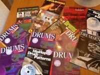 Drum tuition books various grades, some with Cd