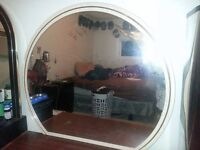 Rounded dresser mirror