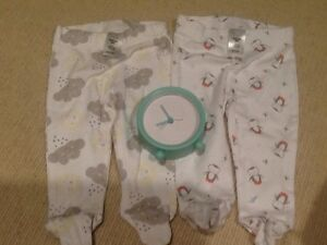 NEW UNUSED NEWBORN 0000 LONG PANT AND NEW CLOCK Richardson Tuggeranong Preview