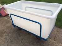 Plastic Water, Food Grade Container Trolley Tank 10 gal