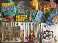 Disney cakes and sweets magazine and baking equipment collection