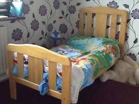 East coast cot bed with drop sides