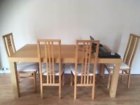 6 Seater Wooden Dining Set (Chairs are cushioned) for immediate Sale! Excellent Condition!