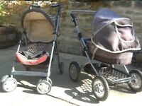 Silver cross baby doll pushchair and pram