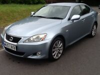 Lexus IS 220d SE 4dr 2.2 FULL LEATHER FULL HISTORY NICE (silverstone blue metallic) 2007