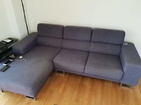 GREY LARGE CORNER SOFA - MUST GO ASAP - CHEAP DELIVERY - £395