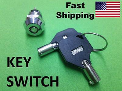 Fs Key Switch - On Off ---- Ac - Dc Volts ---- Small Hidden Switch With 2 Keys