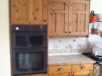 Kitchen wall & floor units, oven and fridge freezer housing, island unit, also appliances