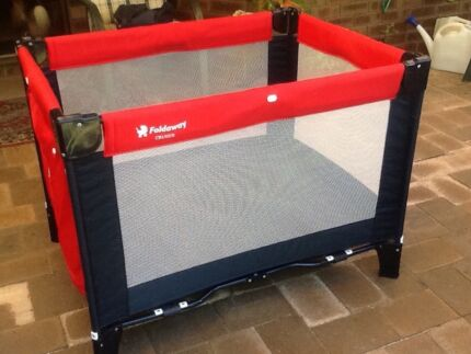Foldaway childs playpen. As new.