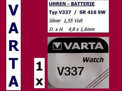 337 , V337 , SR416SW Batterie Varta Watch Knopfzelle 1,55V.