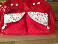 Irregular choice handbag and clutch bag