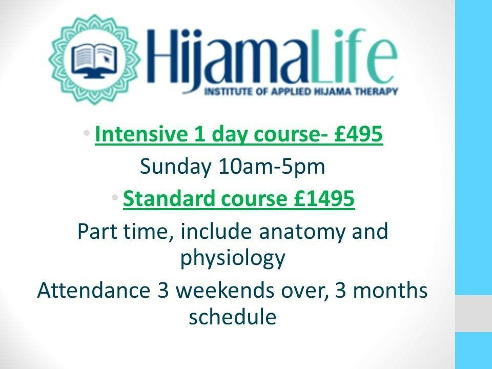 FREE HIJAMA CUPPING THERAPY COURSE ON THE 25TH MARCH! | in Small ...