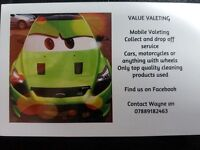 Car Valeting by Value Valeting. Wigan and surrounding areas. Home, work, car park? we come to you.