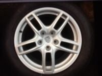 """Genuine 19"""" Porsche Cayenne Alloys With Good Tyres For Sale"""