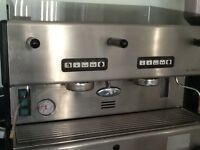 La San Marco S m 85-E-2 group commercial coffee machine with installation guide
