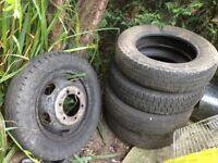 185/75/R16C Ford Tranit truck wheel and tyres for luton tipper recovery dropside