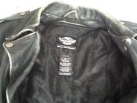 Motorcycle Leather Jacket Genuine (Harley Davidson.)