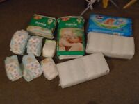 Over 200 size 3 nappies including Pampers, Mamia and Chicco