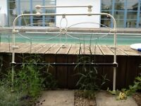 ORIGINAL CAST IRON DOUBLE BEDSTEAD