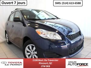 2013 Toyota Matrix GRP COMMODITÉ, A/C, CRUISE, BLUETOOTH